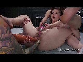 Threesome lesbian deep anal fisting dp