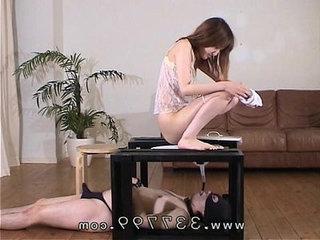 MLDO Slave dog for sex processing of the lesbian. Mistress Land