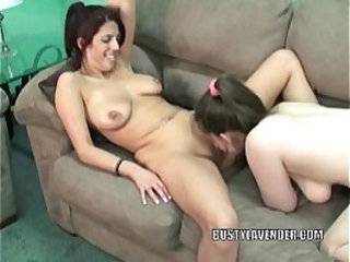 Mature slut Natasha munches Lavender Raynes sweet pussy