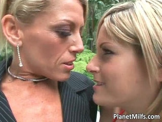 Lesbian play where hot blonde