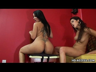 Sexy teen latina lesbians dildo inserting