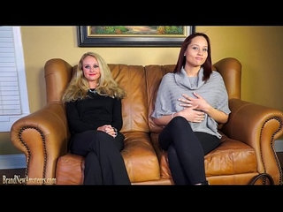 Casting couch amateurs go lesbian in dual interview